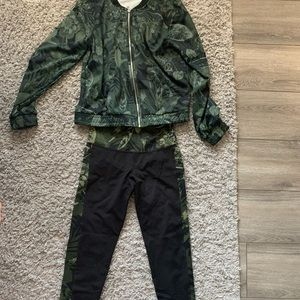 Camo style track suit